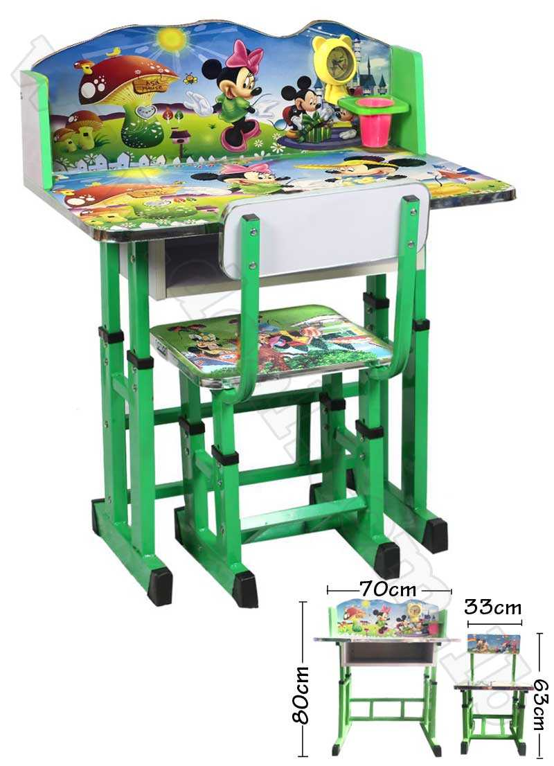 Mickey Mouse  Kids Foldable Study Table And Chair