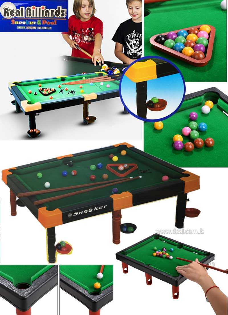 Mini Real Billiards Snooker and Pool Set