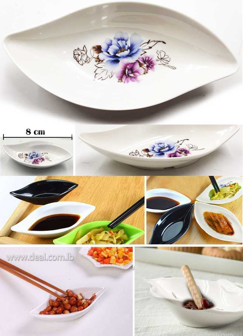 Mini leaf dining  flower pattern serving pot