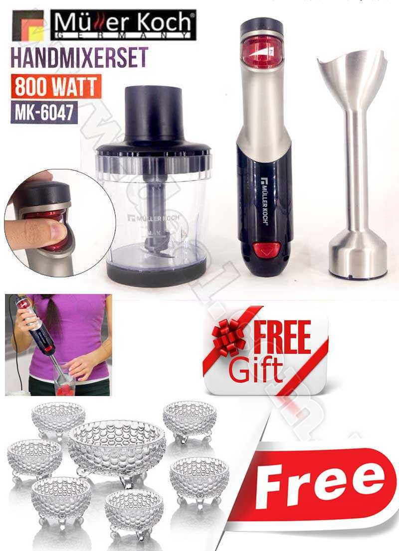 Muller Koch Hand Blender Set 800 WATT MK-6047 With Free Gift