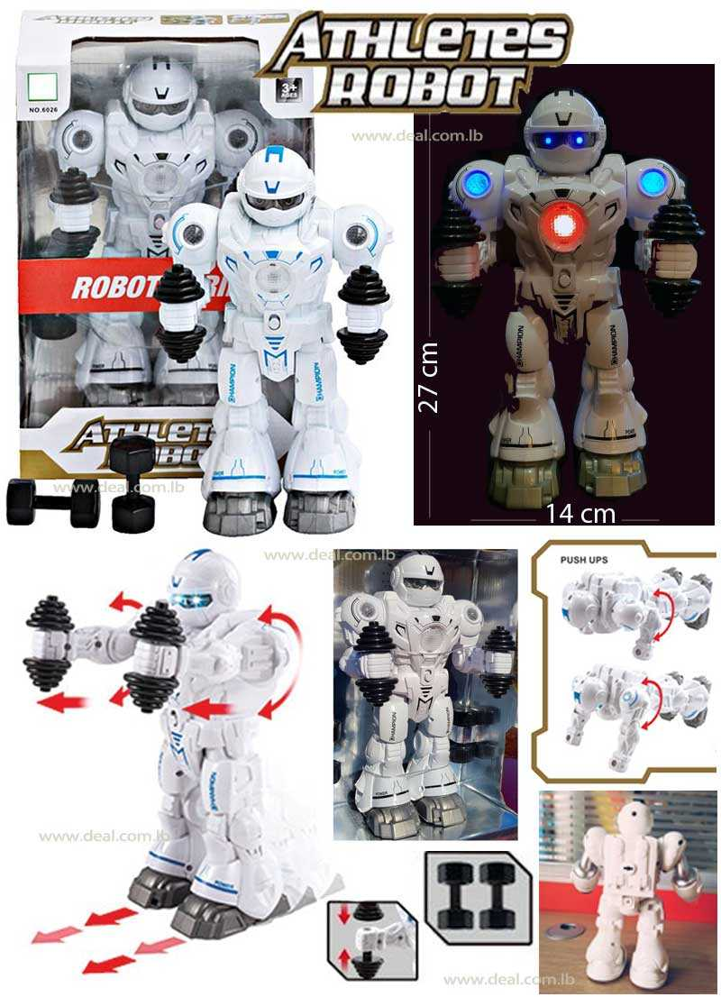 MultiFunction walking Robot with light