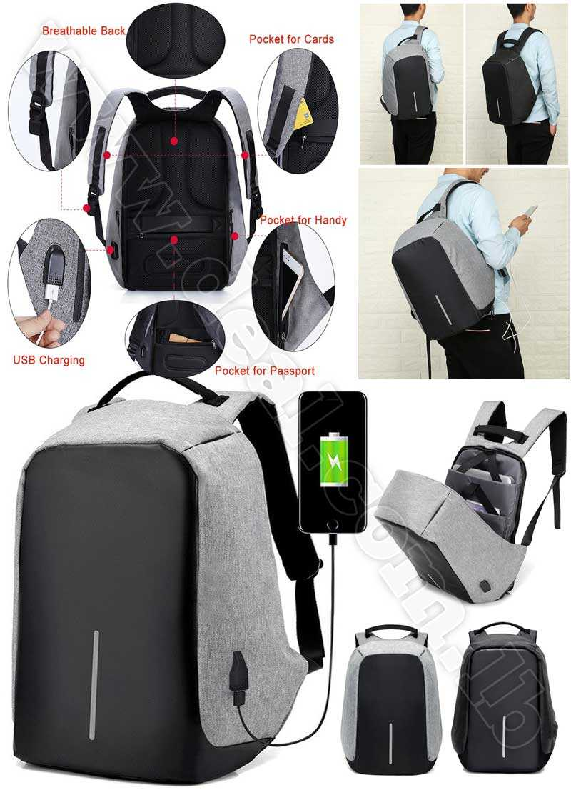 Multifunctional Anti thief Backpack USB Charging