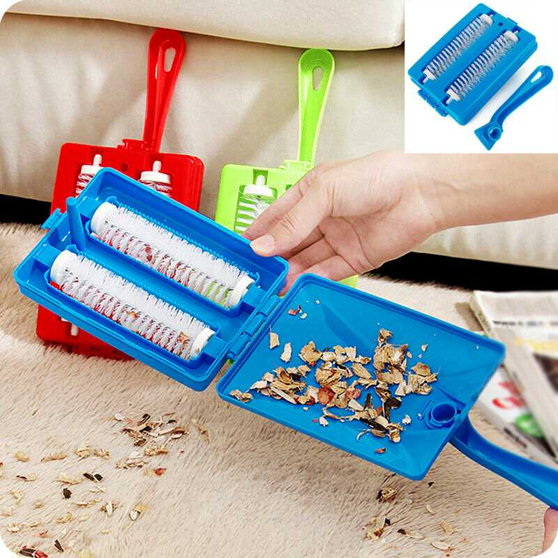 NEW Handheld Carpet Sweeper Crumb Dirt Fur Brush Cleaner Collector Roller Tool