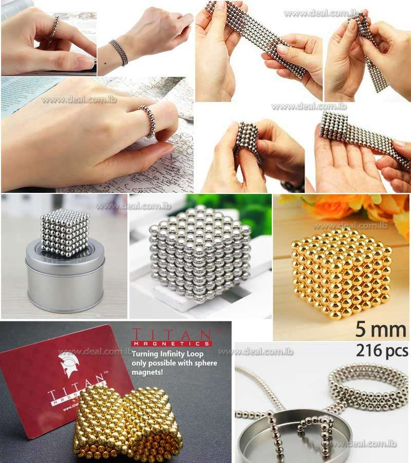 Neocube  Magnets Magnetic Cube 5mm Tin Spheres