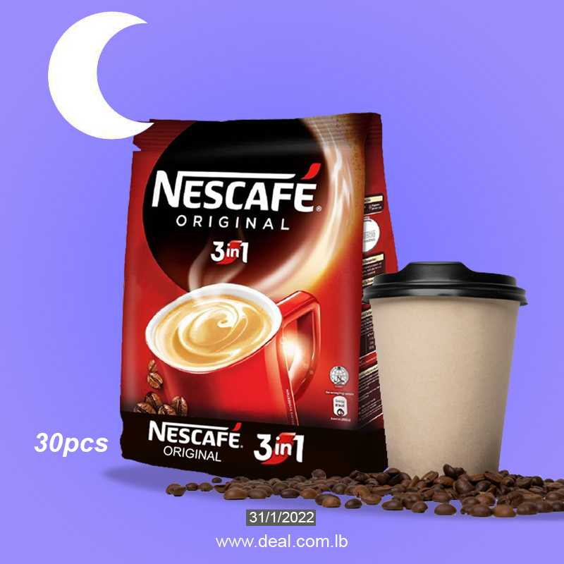 Nescafe Original 3 in 1 30 pcs