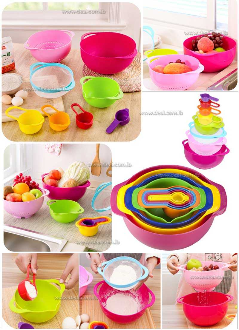 Nested Mixing Bowls 10 pcs Prep Set