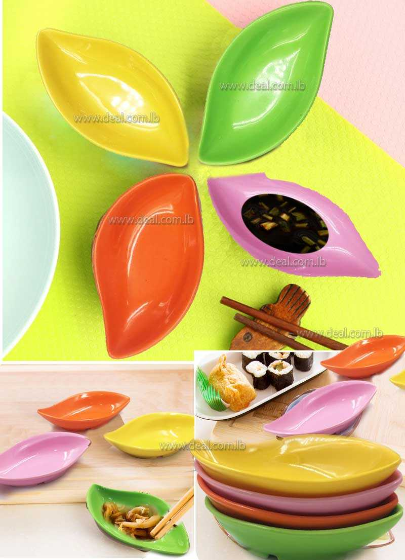 New Ceramic Dinner Plates Leaf Shape Soy Sauce Dish Kitchen Accessories Cooking Tools Sushi Dishes Salt Oil Plate
