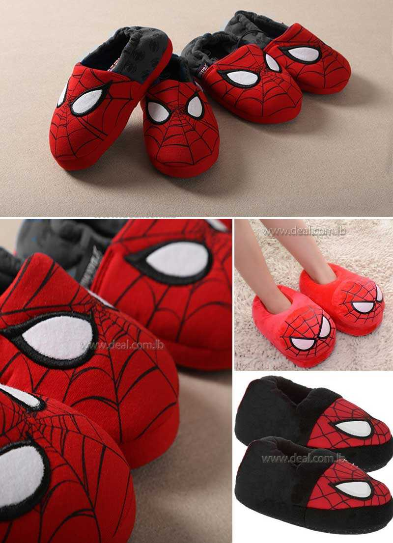 New Childrens Spider House Slipper Shoes for Babys Boys Girls Home Cotton Shoes Warm Winter Boots