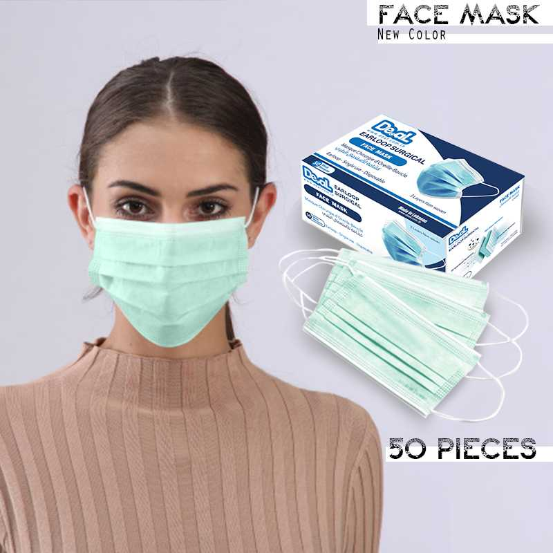 New Face Mask Green Color 50 pieces
