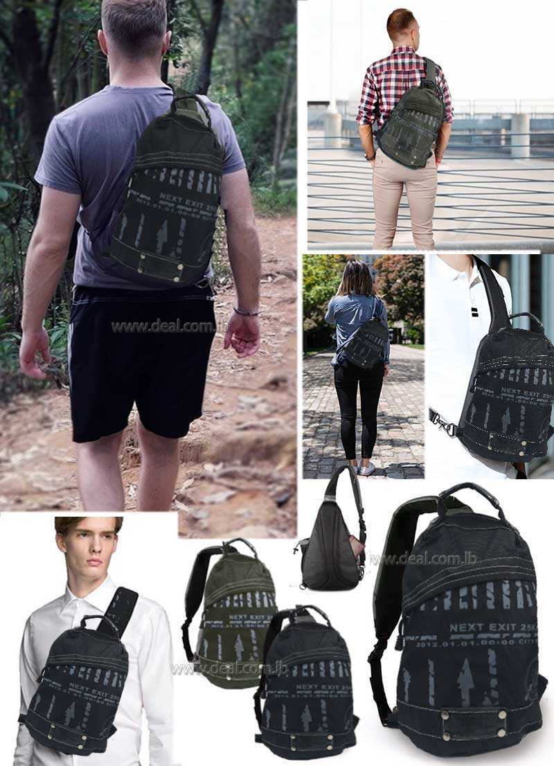 Outdoor Master Sling Bag Small Crossbody Street Travel Backpack Men