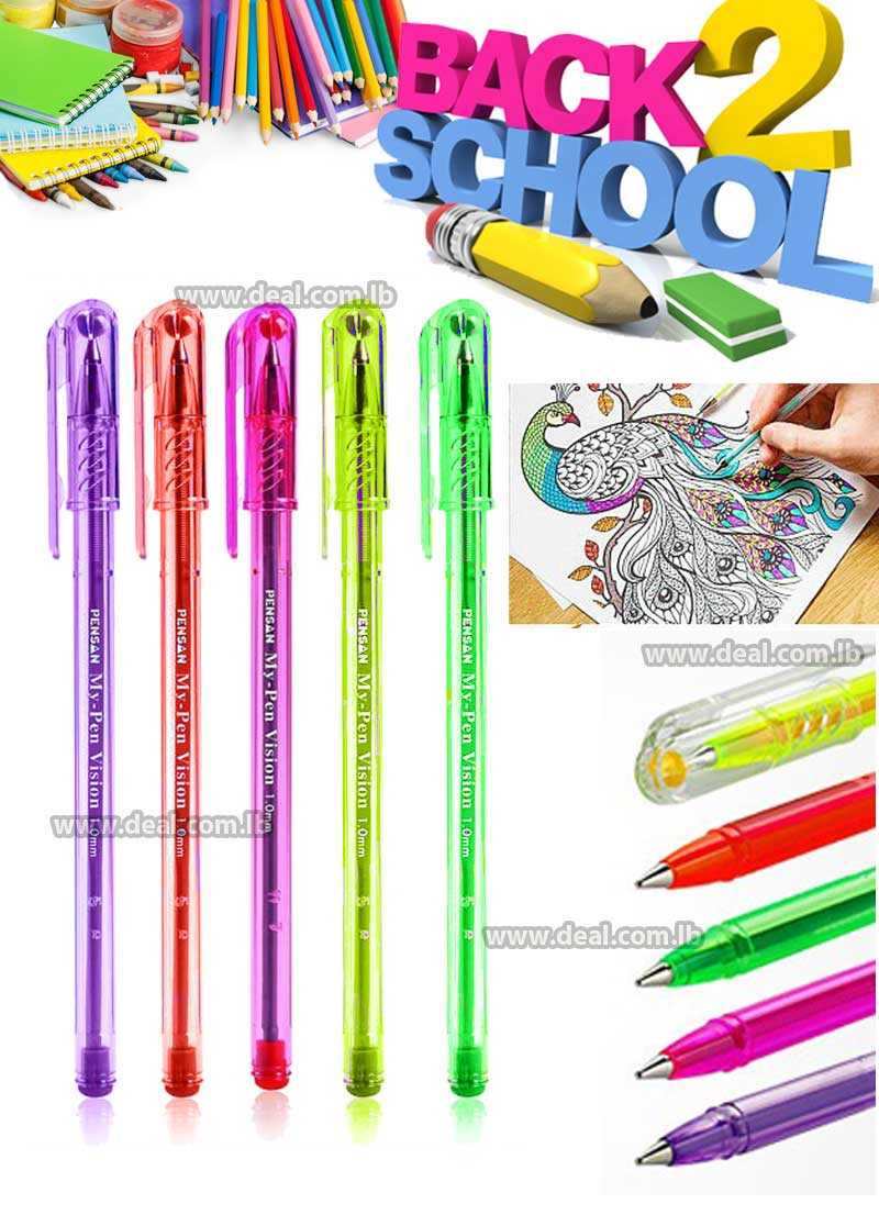 PENSAN My Pen 2211 with stylish design translucent plastic with color