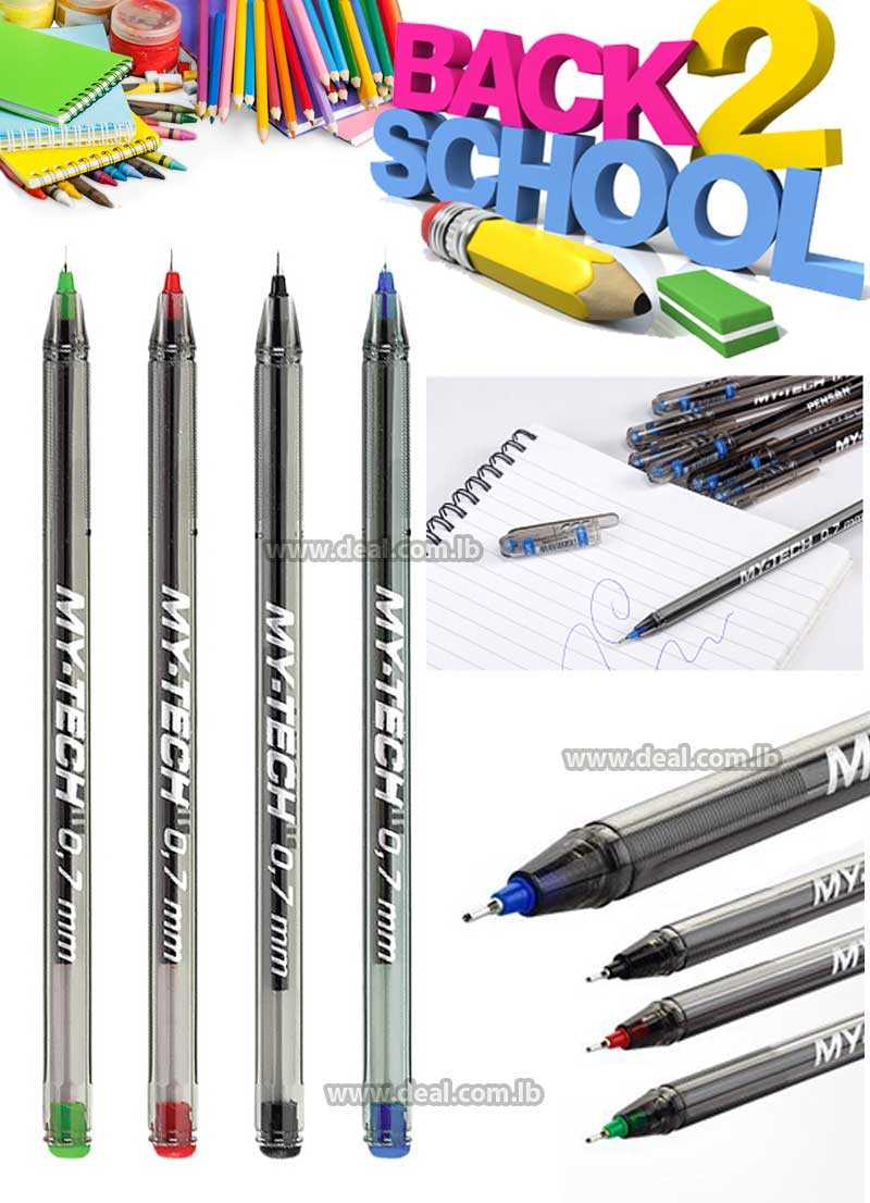 Pensan My Tech 0.7mm Pigmented Ink Waterproof Ball Point
