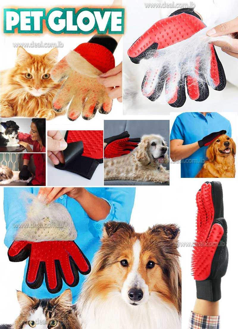 Pet Cleaning Brush Gloves Cat Dog Massage Comb Hair Removal Cleanup