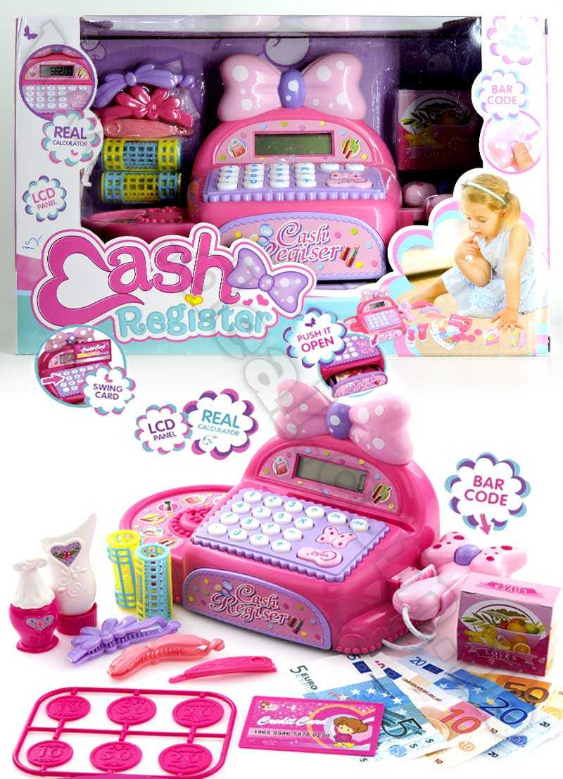 Pink Electronic Cash Register Set