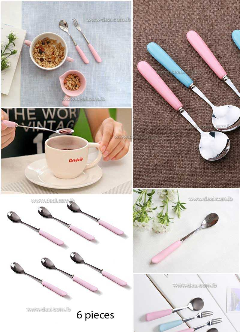 Pinky Stainless Steel Spoon Cute Watermelon Fruit Ice Cream Spoon Ladle