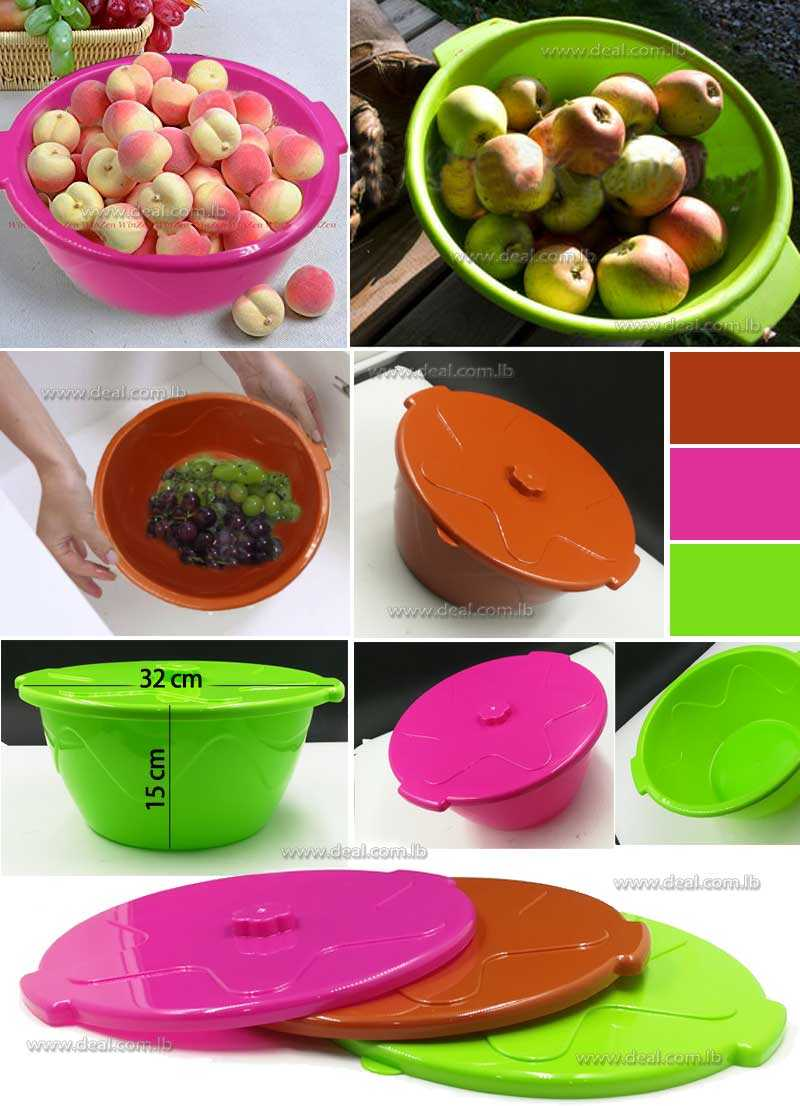 Plastic Big Size Bowl With Cover