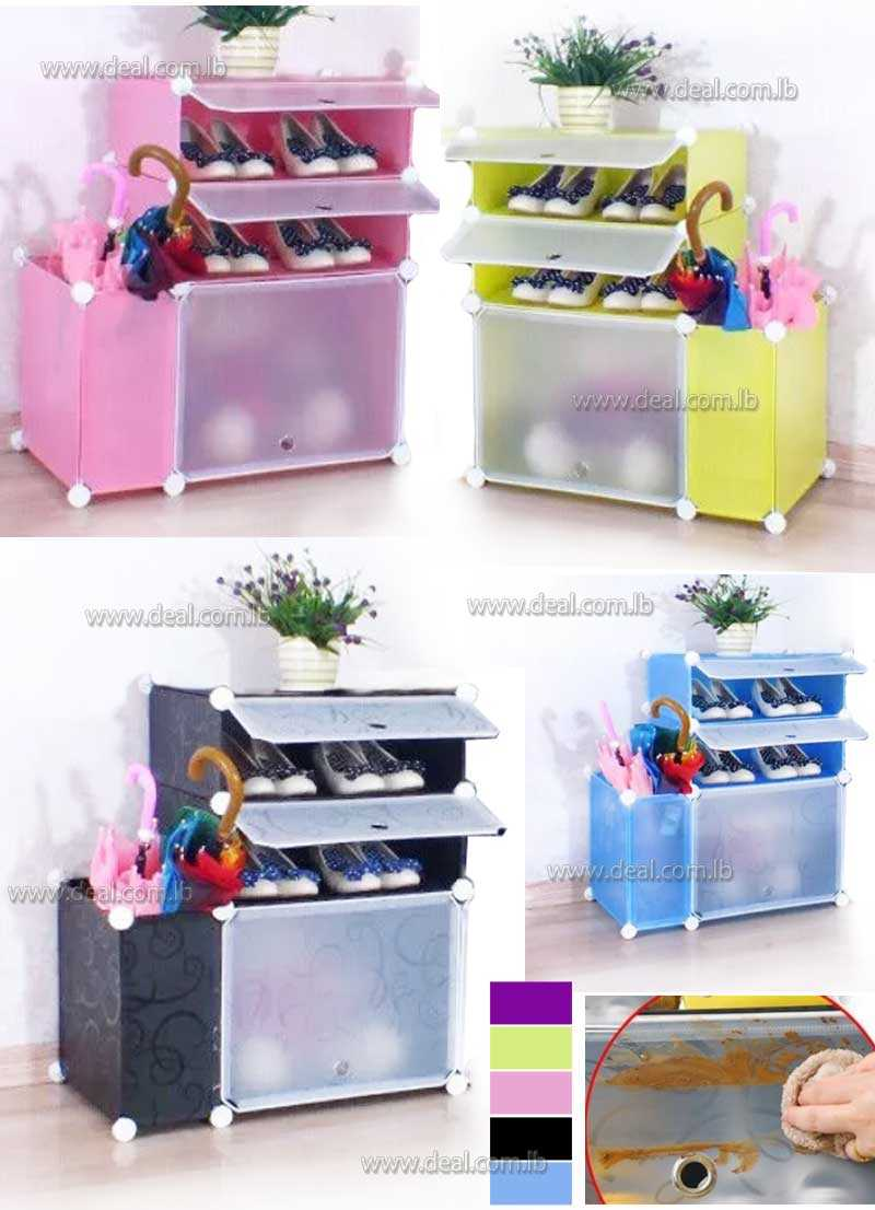 Plastic+Cabinet+Shoe+Rack+With+Umbrella+Stands