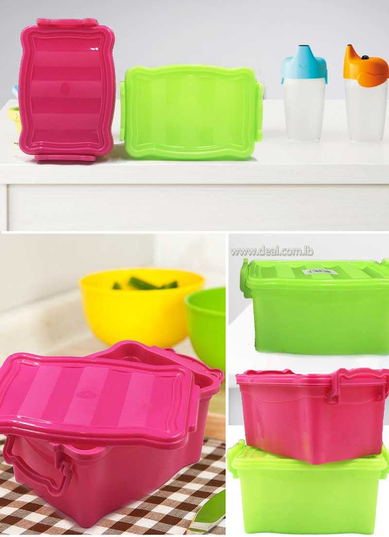 Plastic Tupperware candy food  box