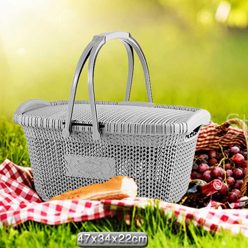 Plastic+basket+for+a+picnic