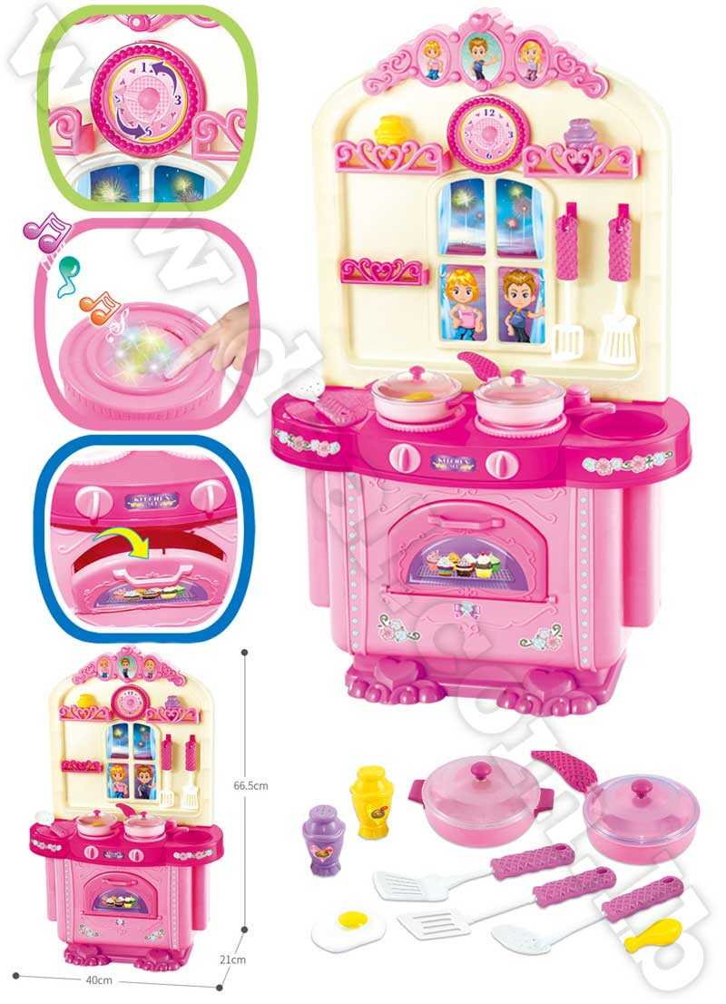 Plastic play house kitchen set toys for kids