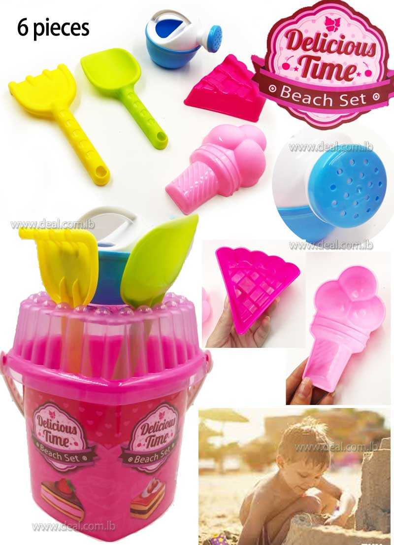Play Set 5PCS Delicious Sand Molds Beach Bucket Toys