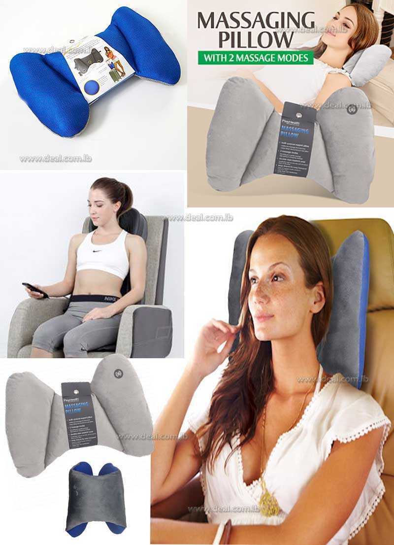 PlayHealth Massaging Pillow With 2 Massage Modes