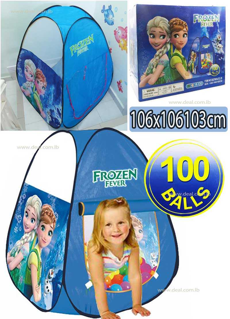Pop up play tent Large Space Kids Frozen Tent With 100 Balls