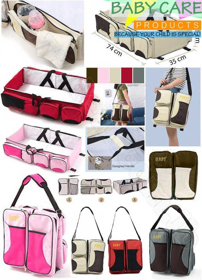 Portable+Baby+Bed+Crib+Outdoor+Folding+Bed+Travelling+Baby+Diaper+Bag+Infant+Safety+Bag