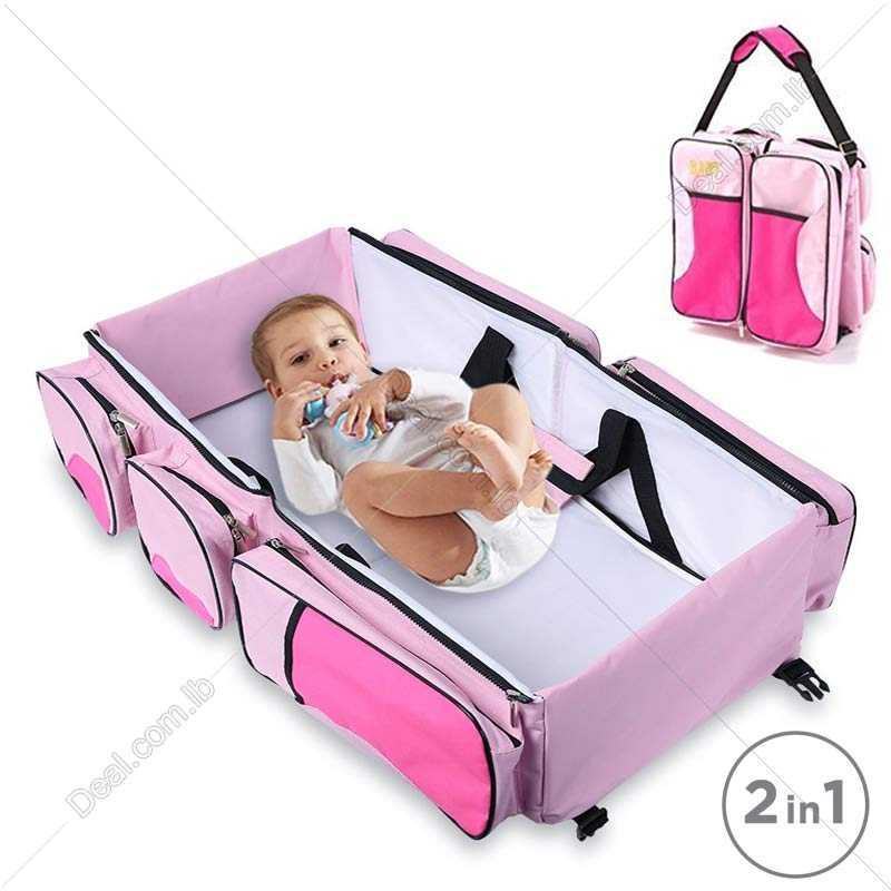 Portable Baby Bed Crib Outdoor Folding Bed Travelling Baby Diaper Bag Infant Safety Bag