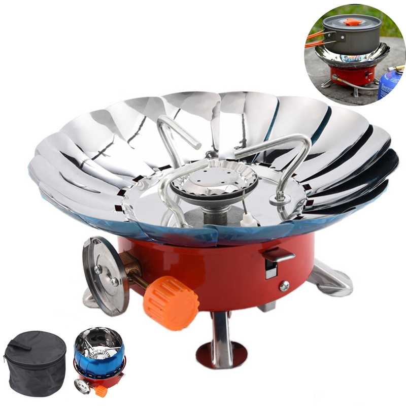 Portable Folding Lotus Style Windproof Camping Stove