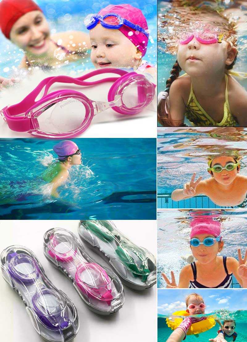 Professional Kids Children Swim Glasses Waterproof Anti-fog Silicone Swimming Goggles Men Women Goggles Sports Swim Eyeglasses