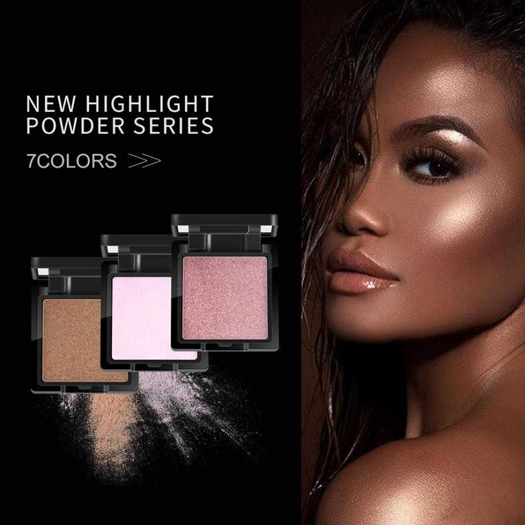 QIBEST Highlighter Pressed Powder Baked High Gloss Brightening 7 Shades