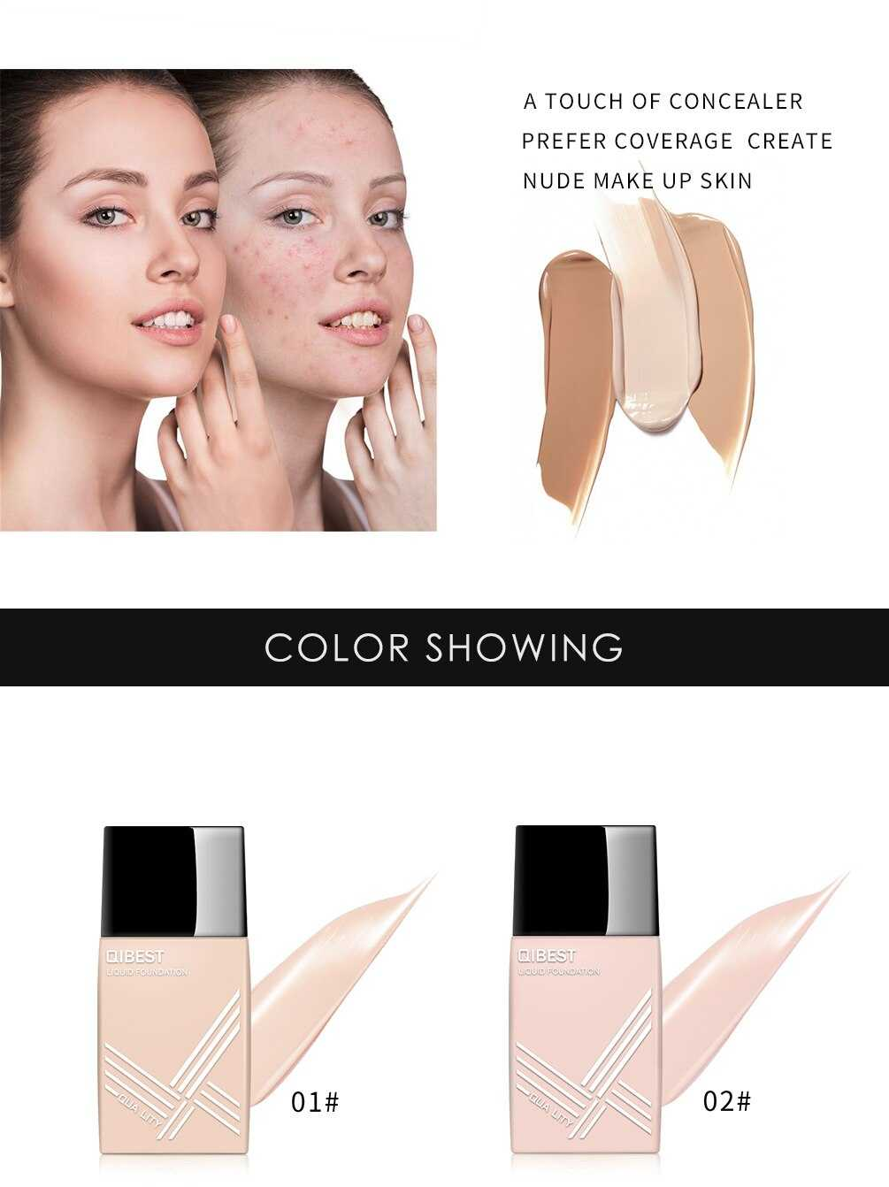 QIBEST Light Natural Foundation