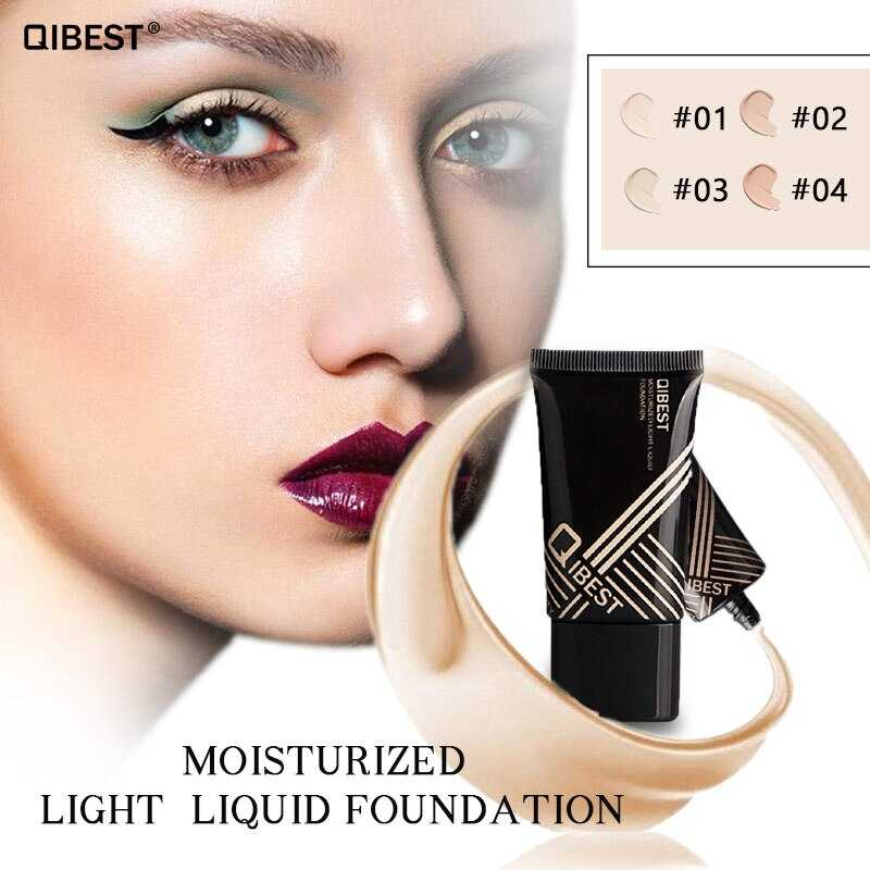 QIBEST Liquid Foundation Makeup Face Base Long Lasting Concealer Primer Cream
