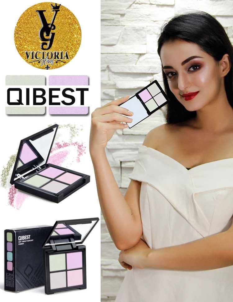QIBEST four-colors eye shadow