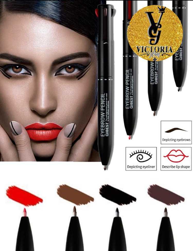 Qibest 4 In 1 Makeup Pencil For Eyebrow Eyeliner Lipliner