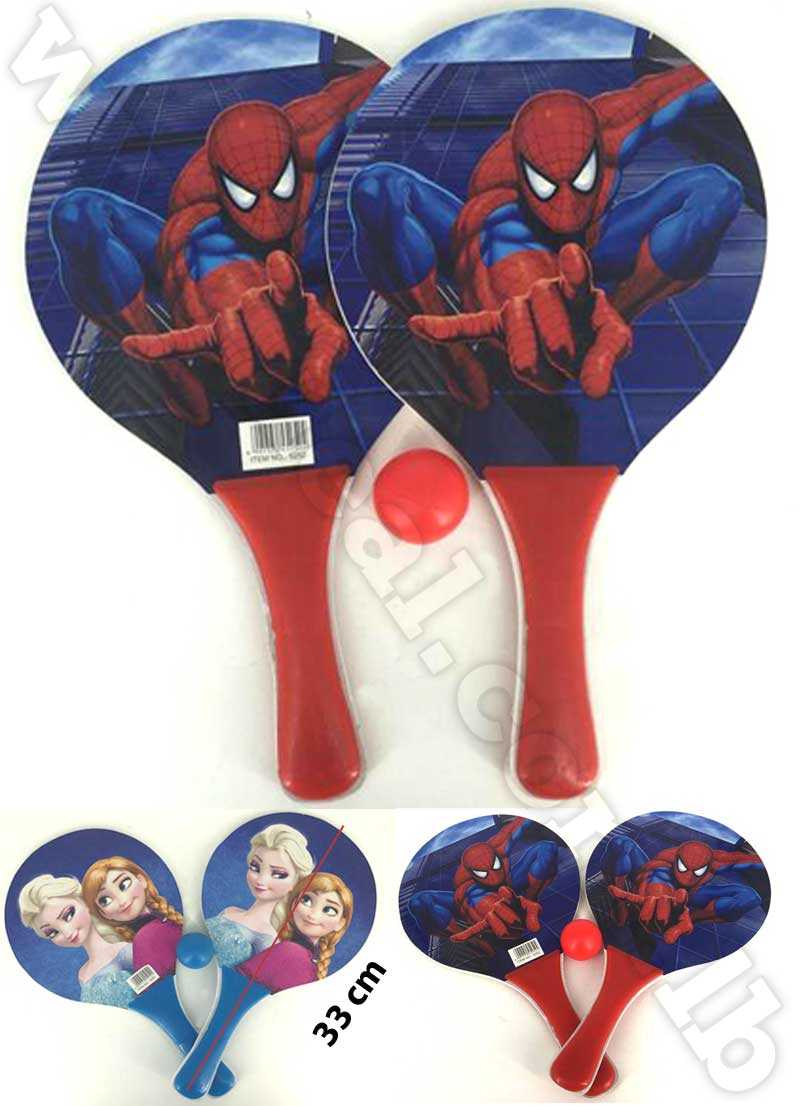 Racket Set with Mesh Bag Spider man& frozen