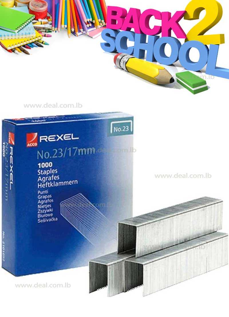 Rexel Heavy Duty Staples No23 17mm Pack