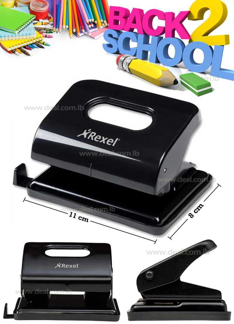 Rexel S208 Student 2 Hole Paper Punch 8 Sheet Capacity