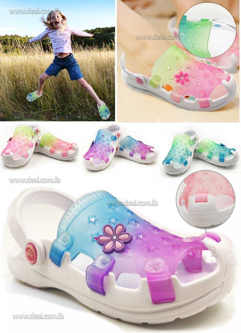 Sabots Transparent Crocs Duet Wave Stars For Girls