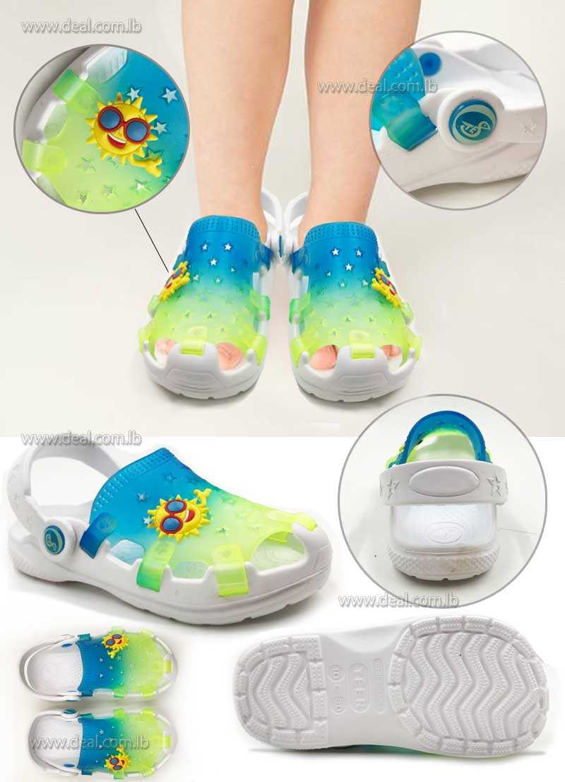 Sabots Transparent Crocs Stars Sunshine Unisex