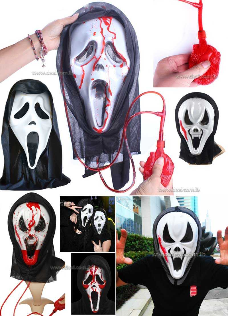 Scary Bloody Screaming Mask Halloween Bleeding