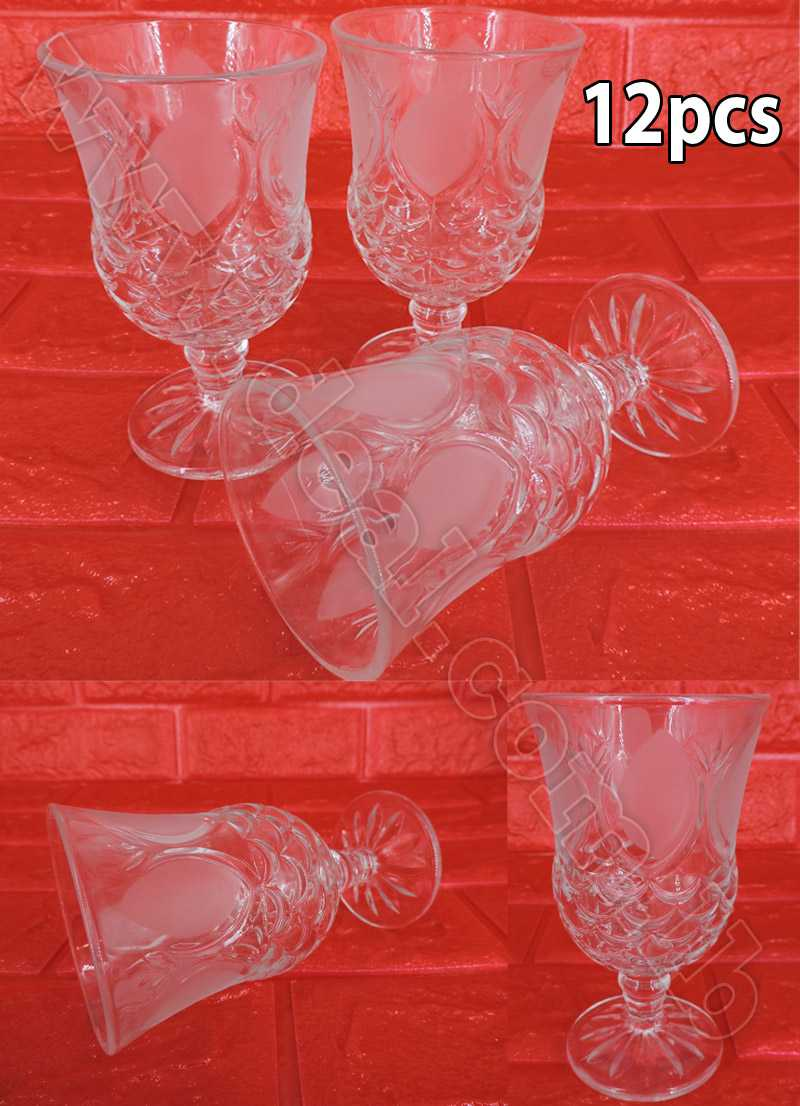Set Of 12 Pcs Glassware Water Cup
