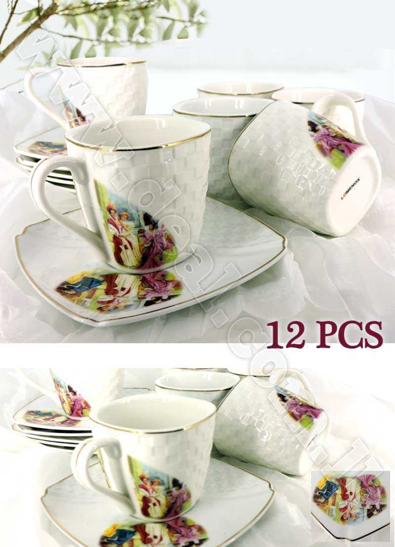 Set Of 12 Pcs Lomenox Tea Cups
