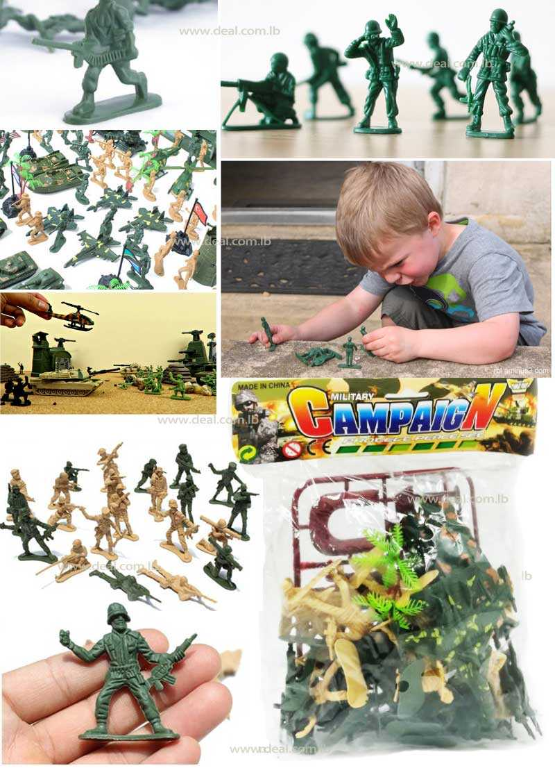 Set Of Military Plastic Toy Soldier Army