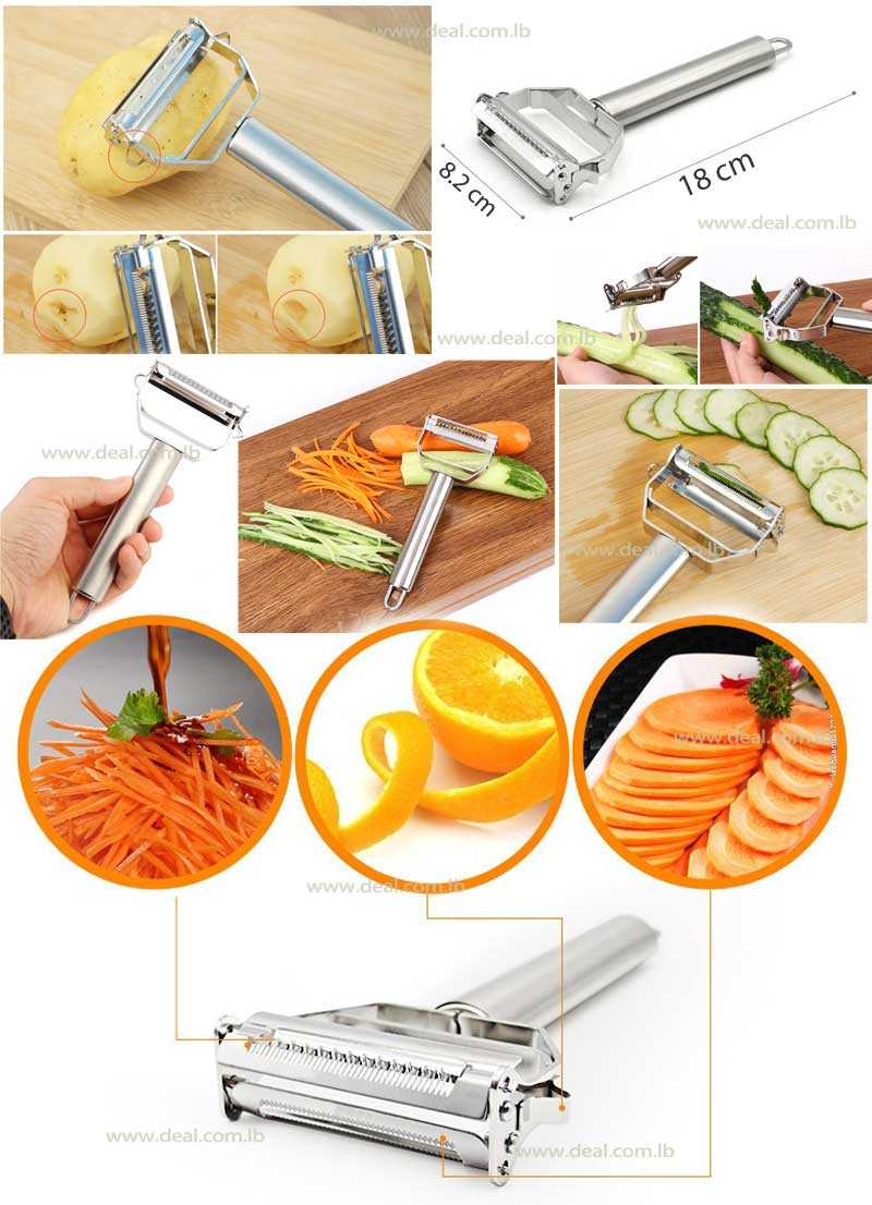 Sharp+Stainless+Steel+Double+Julien+and+Vegetable+Peeler