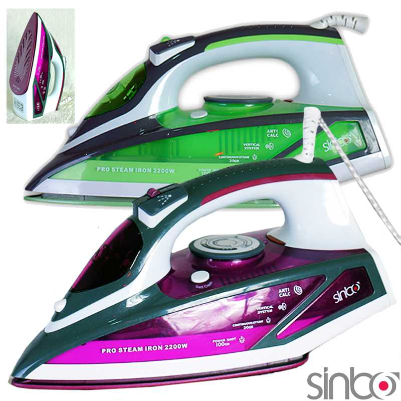 Sinbo Ceramic Plated Steam Iron Automatic Shut Off
