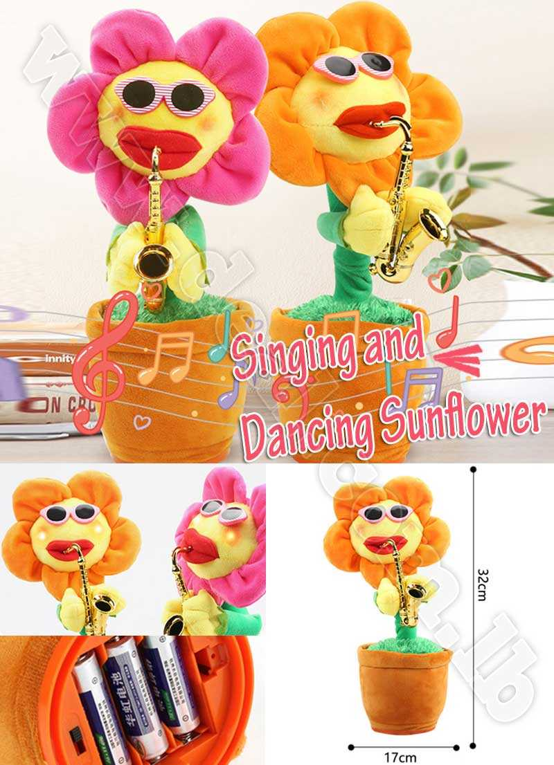 Singing and Dancing Saxophone Sunflower