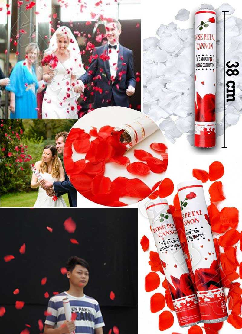 38cm Wedding rose petal Cannon streamer party popper