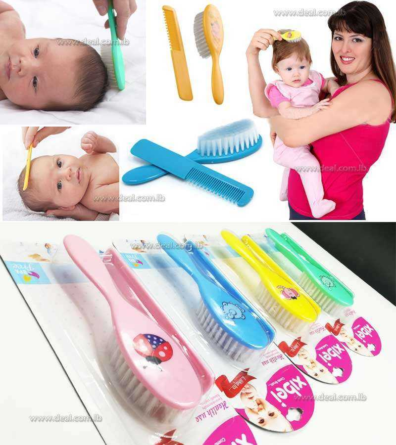 Soft  Baby Comb and Hair Brush Set